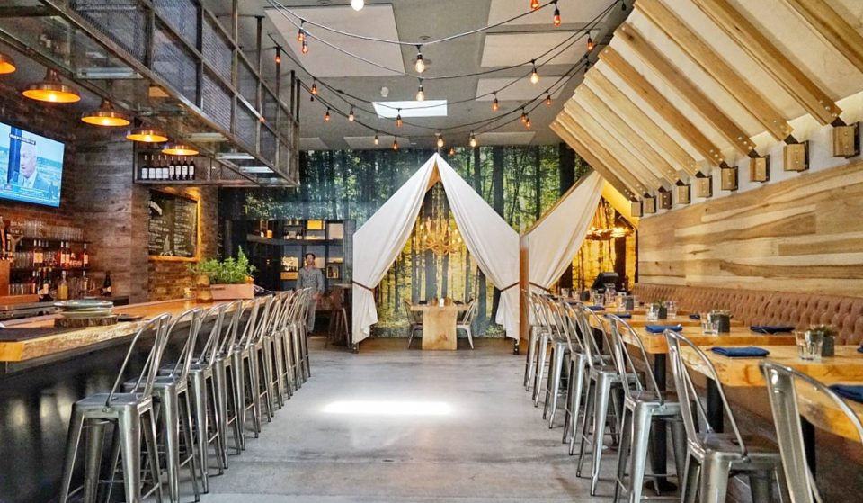 Reconnect With The Outdoors At This Glamping-Themed Restaurant In North Park ⦁ One Door North